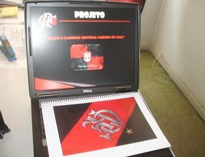 Projeto craque Flamengo caderno notebook