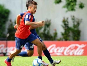 Neymar no treino do Santos (Foto: Divulgação / Site Oficial do Santos)