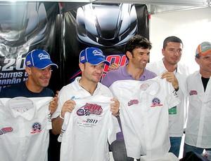 KART - Tony Kanaan, Rubens Barrichello, Christian Fittipaldi, Alexandre Murad e Felipe Giafonne