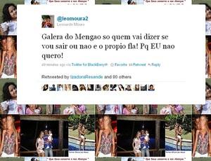 Léo Moura twitter Flamengo