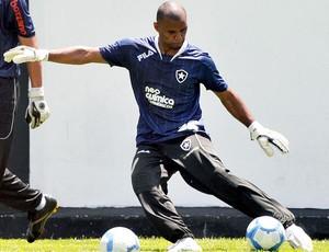 Jefferson no treino do Botafogo (Foto: Agência Photocâmera)