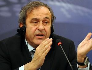 MIchel Platini durante palestra da UEFA na Rep. Tcheca
