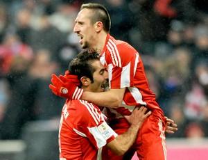 Hamit Altintop e Franck Ribery - Bayern de Munique x St. Pauli