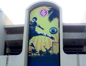 Internacional - Painel do Inter no Estádio Zayed Sports City Mundial de Clubes Abu Dhabi