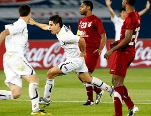 Comemoração Molina no jogo do mundial de clubes Al Wahda x Seongnam Ilhwa (Foto: Reuters)