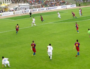lance do jogo entre cruzeiro e barcelona