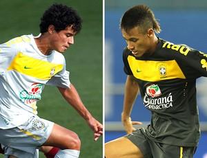 montagem Philippe Coutinho e Neymar seleção brasileira
