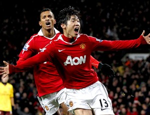 park ji sung manchester united gol arsenal (Foto: agência Reuters)