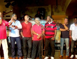 Flamengo - Adílio, Andrade, Julio Cesar, Junior e Rondinelli geração de ouro em evento na Barra da Tijuca