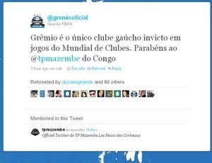 twitter Grêmio derrota Internacional