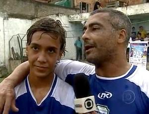 frame - romario e romarinho pelada de final de ano (Foto: reprodução Rede Globo)