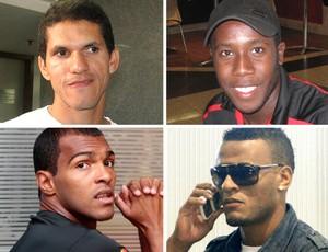 MONTAGEM - Reforços do Atlético-MG, Magno Alves, Toró, Richarlyson e Patric