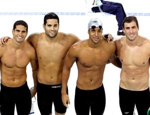 natação Glauber Silva Henrique Barbosa Nicolas Oliveira Guilherme Guido revezamento mundial de natação