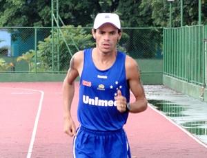 Frank Caldeira no último treino antes da corrida de São  Silvestre