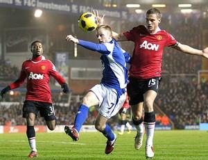 Vidic Manchester United Larsson Birmingham (Foto: Reuters)