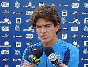 zagueiro Alison em entrevista no Bahia (Foto: Divulgação / Site Oficial do Bahia)