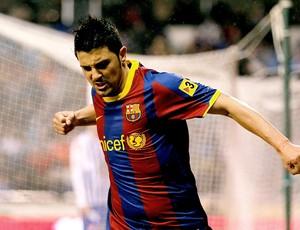 villa barcelona gol la coruna (Foto: agência Getty Images)