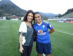 Marta e Thalita Rebouças na Granja Comary, Teresópolis