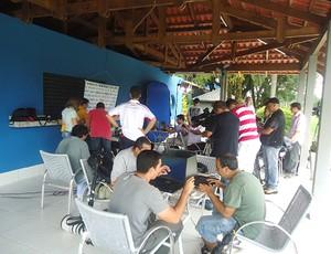 Imprensa estádio do Café Flamengo