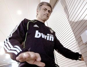 José Mourinho durante coletiva do Real Madrid