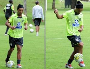 Ronaldinho treino Flamengo