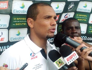 Marcel na entrevista do Vasco
