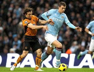 Edin Dzeko na partida do Manchester City