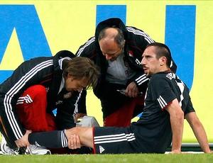 Franck Ribery machucado na partida do Bayern de Munique