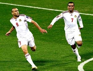 Odai Al Saify comemora gol da Jordânia