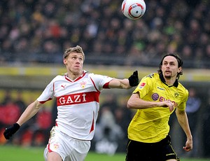 Ravel Pogrebnyak Stuttgart Neven Subotic Borussia (Foto: AFP)