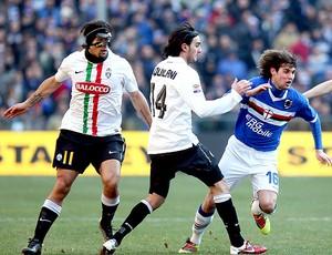 Amauri na partida do Juventus contra o Sampdoria