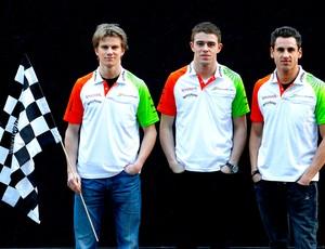 Nico Hulkenberg Paul di Resta Adrian Sutil pilotos da Force india para a temporada 2011