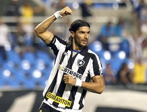Loco Abreu comemora gol do Botafogo