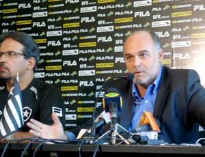Presidente Maurício Assumpção Botafogo e diretor de marketing