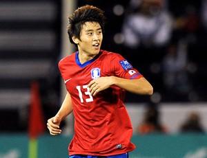 Koo Ja-Cheol jogando na seleção da Coreia do Sul