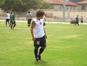 Márcio Azevedo no treino do Botafogo