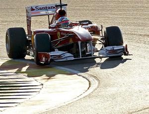 Alonso no teste da Ferrari