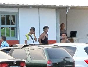Leonardo Moura Ronaldinho Flamengo (Foto: Richard Fausto / Globoesporte.com)