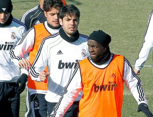Kaká no treino do Real Madrid (Foto: EFE)
