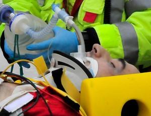 kubica maca acidente, resgate fórmula 1 (Foto: AFP)