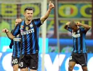 Thiago Motta gol Inter de Milão (Foto: EFE)
