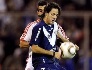 Juan Martínez na partida do Velez Sarsfield - Guia da Libertadores (Foto: AFP)