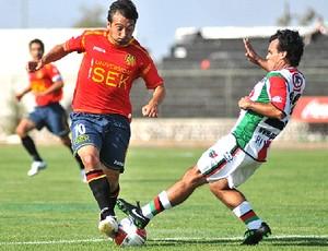 Martin Liguea na partida da Unión Española - Guia da Libertadores (Foto: Divulgação / Site Oficial)