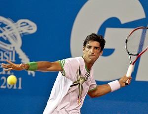 Thomaz Bellucci tênis Aberto do Brasil Open oitavas (Foto: Douglas Daniel / Divulgação)