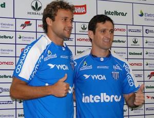 Cássio e Evando são apresentados (Foto: Divulgação / site oficial)