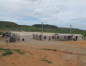 Acampamento Murici (Foto: Richard Souza (Globoesporte.com))