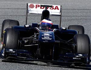 Barrichello no teste da F1 em Barcelona (Foto: Reuters)