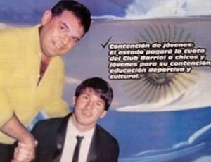 Deputado argentino usa imagem de Messi em santinho (Foto: Divulgação)