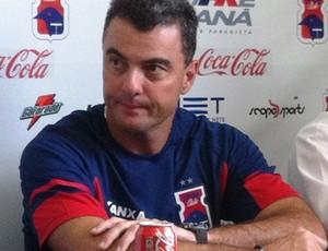 Ricardo Pinto, novo técnico do Paraná Clube (Foto: Fernando Freire - RPC TV)