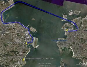 Mapa da Corrida da Ponte (Foto: Reprodução)